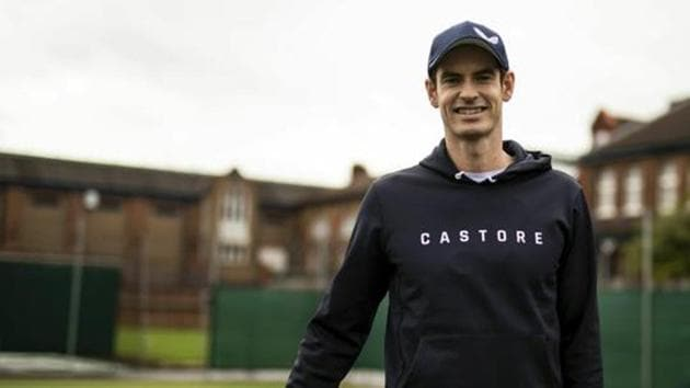 Britain's Andy Murray poses during the Castore partnership announcement at the Queen's Club, in London, Wednesday March 6, 2019.(AP)