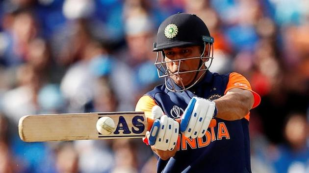 Cricket - ICC Cricket World Cup - England v India - Edgbaston, Birmingham, Britain - June 30, 2019 India's MS Dhoni hits a four Action Images via Reuters/Andrew Boyers(Action Images via Reuters)