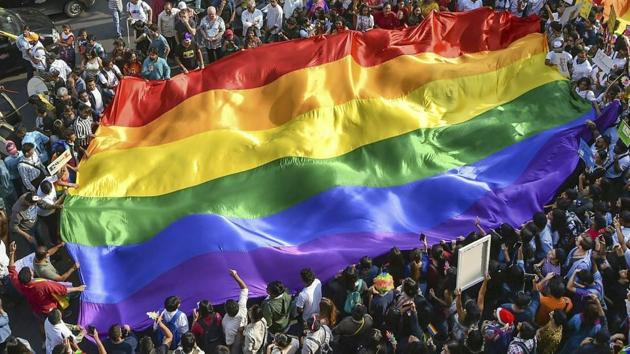 Millions lined the streets of New York on Sunday to wave rainbow flags, celebrate the movement toward LGBTQ equality.(PTI Photo)