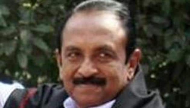 MDMK founder Vaiko is likely to return to the Rajya Sabha after two decades.(HT FILE PHOTO)