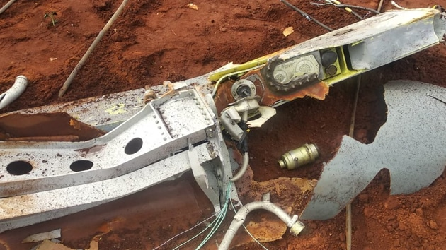 Seen here are the remains of the dropped fuel tank. (ANI Photo)