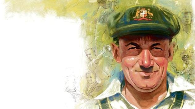 As a boy, Bradman used a stump in place of a bat, a golf ball and a tank stand at home to perfect his batting(Illustration: Mohit Suneja)