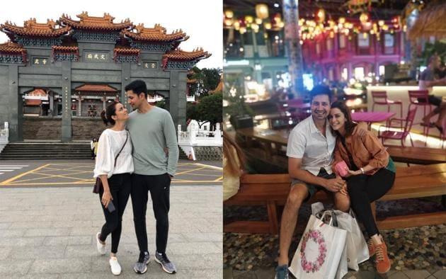 Sumeet Vyas in on a holiday with wife Ekta Kaul in Taiwan.