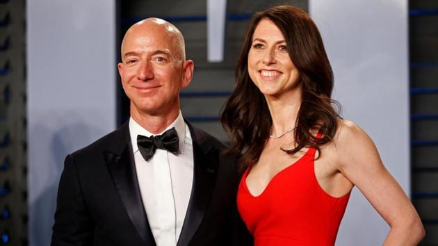 Amazon CEO Jeff and wife MacKenzie Bezos in 2018.(Reuters File Photo)