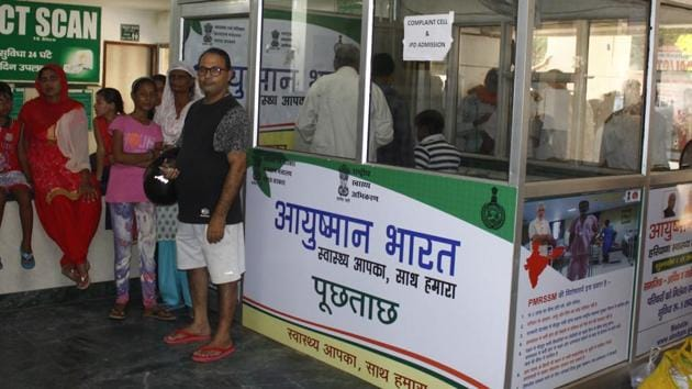 A senior health department official said that under the Ayushman Bharat scheme only the socially economically weaker section (SEWS) families are allowed to be registered.(Yogendra Kumar/HTfile photo for representation)