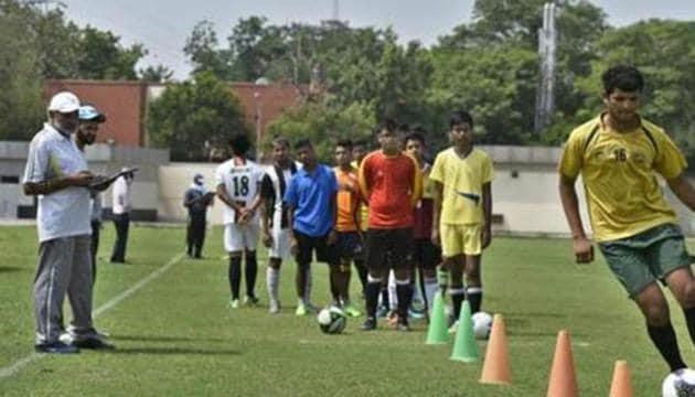 DU Sports trial(Sushil Kumar/HT PHOTO)