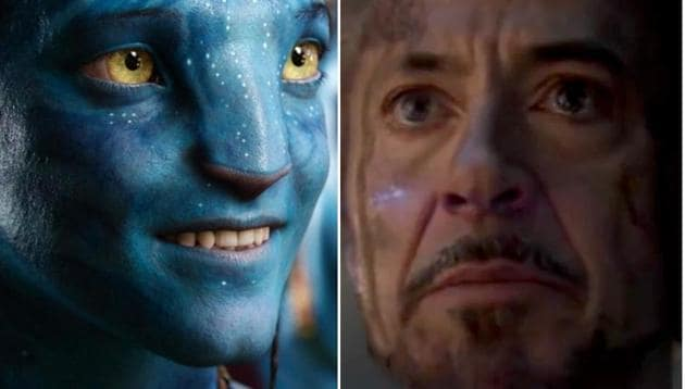 Stills from James Cameron's Avatar and Marvel's Avengers Endgame.