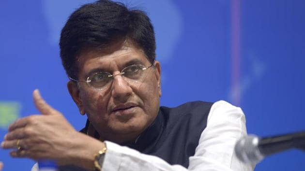 Railways minister Piyush Goyal .(MINT PHOTO.)