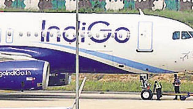 Around 180 passengers were left stranded at Chandigarh International Airport as Indigo cancelled its 7:55am flight to Delhi on Wednesday.(Gurminder Singh /Hindustan Times)