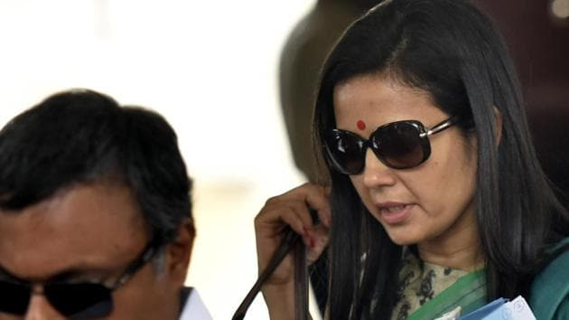 """Tweets have been doing the rounds quoting a Washington Monthly article alleging that the TMC parliamentarian had lifted parts of her speech in the Lok Sabha from an article published on """"12 early warning signs of fascism"""", which referred to the US and President Donald Trump.(Sonu Mehta/HT PHOTO)"""