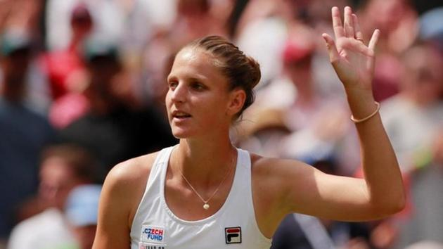 Czech Republic's Karolina Pliskova celebrates winning her second round match against Puerto Rico's Monica Puig.(REUTERS)