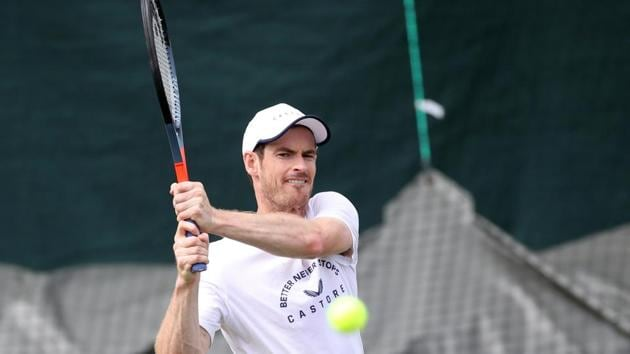 Britain's Andy Murray during practice(REUTERS)
