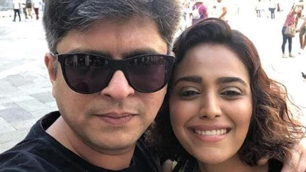 Swara Bhasker and Himanshu Sharma while on a vacation in Italy in 2018.(Instagram)