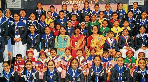 St Xavier's High School, Borivli, recently conducted its investiture ceremony to felicitate the newly elected council members of the school.(HT)