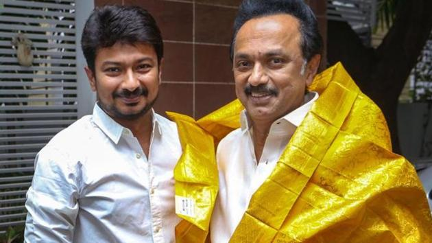 Udhayanidhi's prospects for elevation in the party had brightened after the DMK-led alliance had bagged 37 of the 38 Lok Sabha seats in the state in the April-May general elections.(PTI)