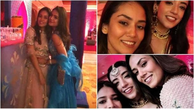 Mira Rajput with her friends at a wedding.