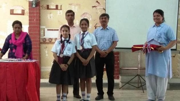 On the basis of overall performance, Springdales School, Dhaula Kuan, bagged the rolling trophy(HT)
