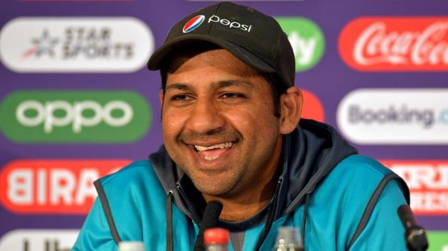 Pakistan's captain Sarfaraz Ahmed attends a press conference at Lord's cricket ground.(AFP)