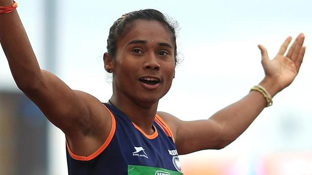 File image of Indian athlete Hima Das(Getty Images for IAAF)