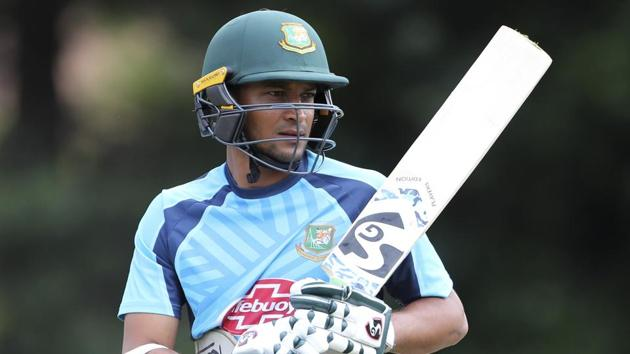 File image of Bangladesh all-rounder Shakib Al Hasan.(AP)