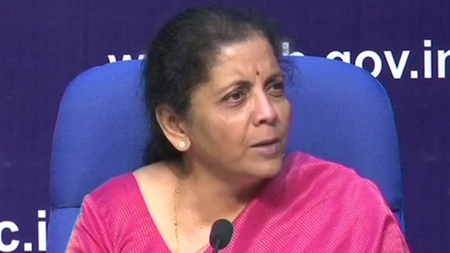 Finance Minister Nirmala Sitharaman in her maiden Budget speech on Friday proposed many changes in income tax provisions for this year but kept income tax slab rates unchanged.(ANI Twitter)
