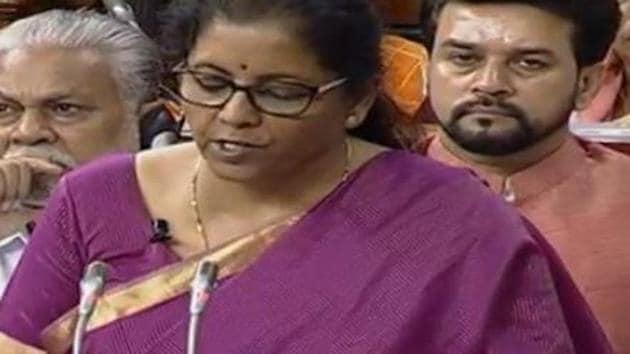 Nirmala Sitharaman presents Union Budget 2019 in Parliament(ANI)