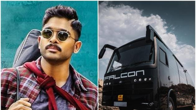 Allu Arjun is currently working on his new film with director Trivikram.(Twitter)