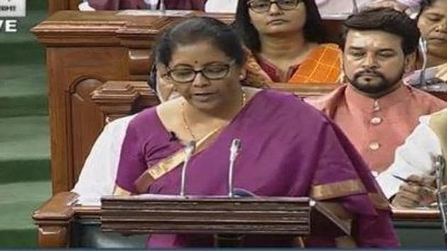 Today, Finance Minister Nirmala Sitharaman is presenting her maiden budget.(HT File Photo)