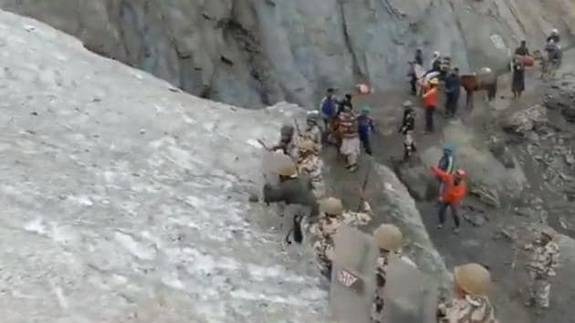 Shared on July 4, the video has gathered more than 13,000 views.(Twitter/@ITBP_official)