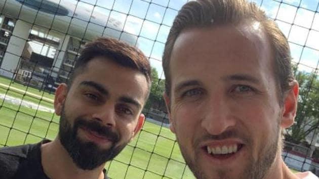 Virat Kohli (L) and Harry Kane(Harry Kane/ Twitter)