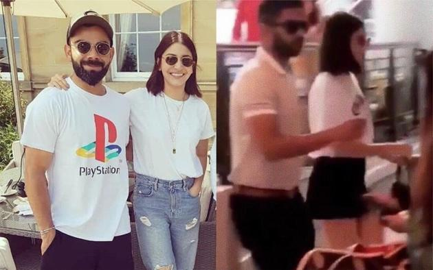 Virat Kohli and Anushka Sharma are enjoying the English summer.(Twitter)