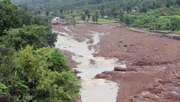 The Tiware dam breach incident took place on Tuesday.(Pratham Gokhale/HT Photo)