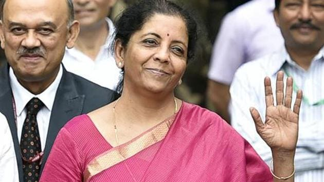 Finance Minister Nirmala Sitharaman said Friday the program will run on a clutch of channels currently operated by state-owned broadcaster Doordarshan.(Ajay Aggarwal/HT PHOTO)