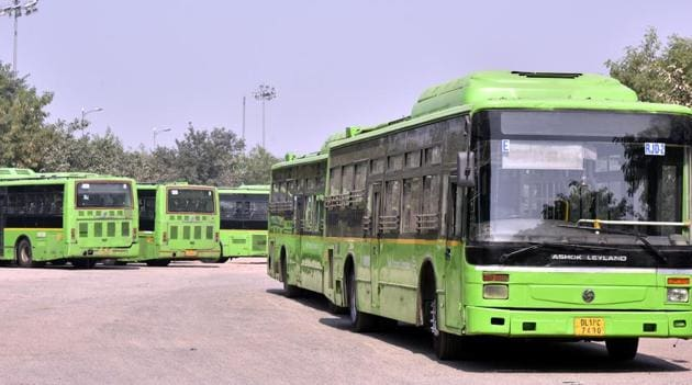 The Delhi Transport Corporation (DTC) on Thursday said it has prepared a proposal to add 1,000 e-buses to its fleet.(Sonu Mehta/HT PHOTO)