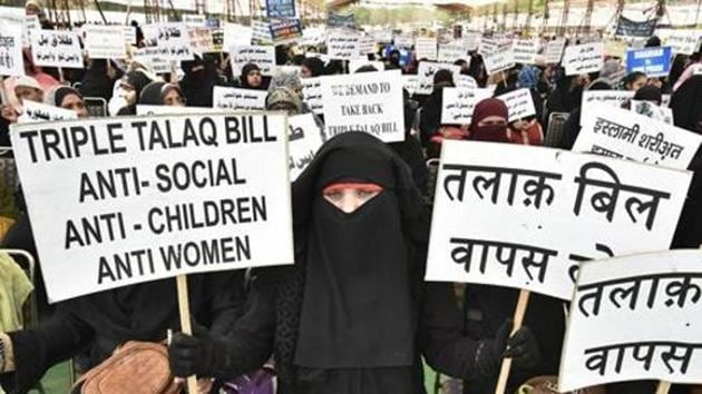 The focus of all political parties has been on issues like triple talaq ignoring largely the need for Muslim women to improve their educational standards and join the skilled workforce(Raj K Raj/HT PHOTO)