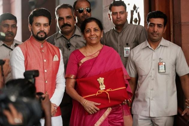 Budget 2019: Nirmala Sitharaman did not announce any changes to the income tax slabs for the middle class, recalling that tweaks made during the interim budget and earlier had alleviated the tax burden on small and medium income-earners.(REUTERS)