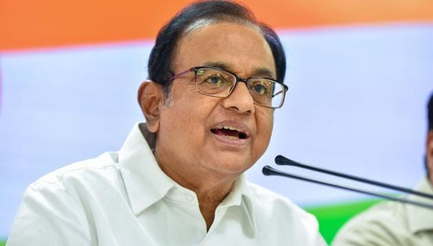 "P Chidambaram criticised the Centre over the ""house arrests"" of several leaders in Jammu and Kashmir.(PTI Photo)"