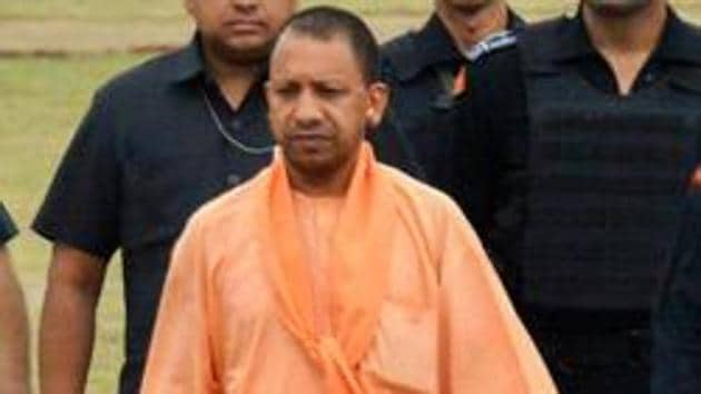 Chief minister Yogi Adityanath on Thursday launched 1076 -- the chief minister's 24x7 helpline(PTI)