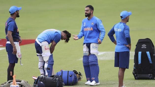 India's captain Virat Kohli during a training session.(AP)