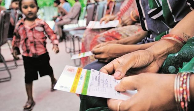 Aadhaar is an ideal identification tool given that 123 crore of the unique ID numbers have been generated so far in the country of 130 crore.(HT Photo)