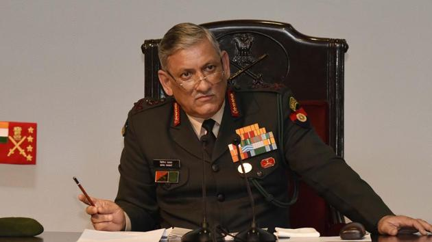 Army chief General Bipin Rawat(Vipin KUmar/HT PHOTO)