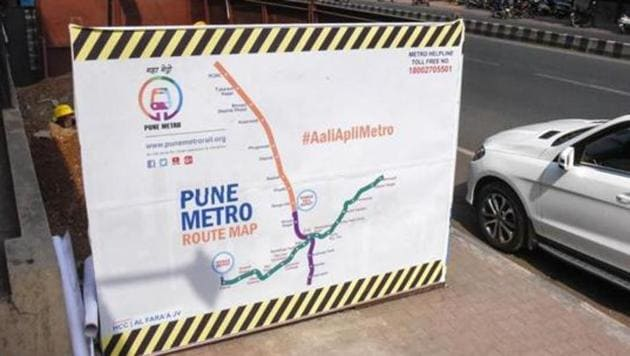 The metro corridor from Hinjewadi to Shivajinagar was the first metro project in the country to be initiated under the PPP model by Tata Realty Infra and Siemens. The plan is executed by the PMRDA(Sanket Wankhade/HT PHOTO)
