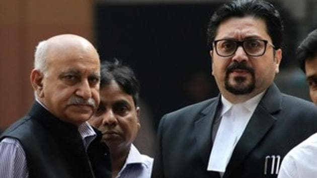 Former minister of state, MJ Akbar refuted allegations of sexual misconduct against him during cross examination in the case.(REUTERS)