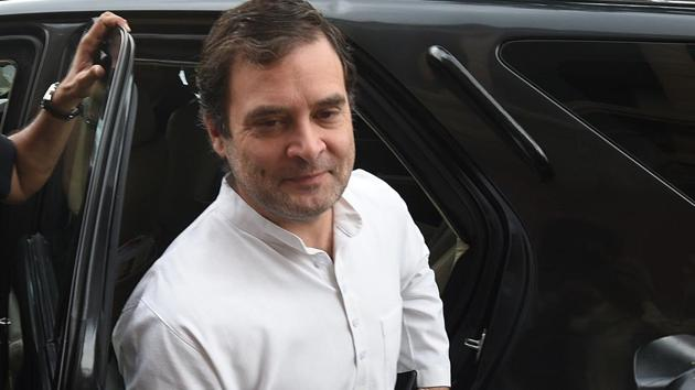 "Congress leader Rahul Gandhi on Saturday said he will appear in a court in Patna for a case filed by his ""political opponents"" in the BJP-RSS to ""harass and intimidate"" him.(Raj K Raj/HT PHOTO)"