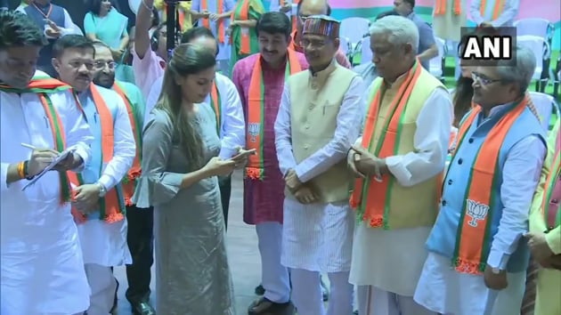 After months of speculation, singer and dancer Sapna Choudhary joined the Bharatiya Janata Party (BJP) on Sunday(Photo: ANI)