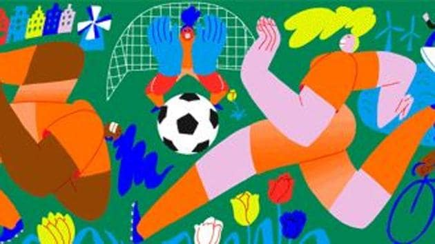 Google celebrates Women's Football World Cup final with a doodle(Google screengrab)