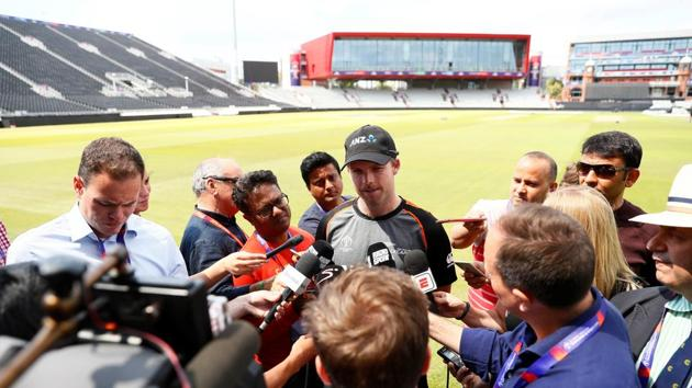 New Zealand's Lockie Ferguson speaks to the media during nets.(Reuters)