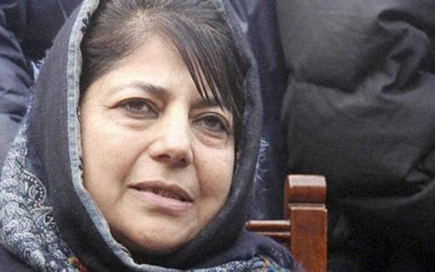 Mehbooba Mufti said that if BJP wants they can solve the issue of insurgency.(PTI File)