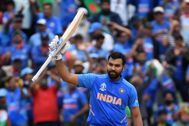 Rohit Sharma in action during the ICC World Cup 2019 encounter between India and Sri Lanka.(AFP)