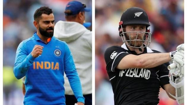 Indian skipper Virat Kohli and New Zealand captain Kane Williamson will look to lead from the front when they face each other in the World Cup semi-finals on Tuesday.(Reuters)
